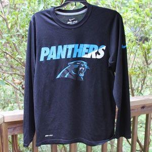 Carolina Panthers L/S  Dri-Fit Tee - Men's Small